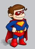 liten superhero stock illustrationer
