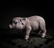 Liten svinleksak Arkivfoto