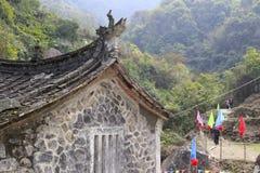 Liten tempel i avlägsna berg Royaltyfria Bilder