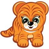 liten tiger stock illustrationer