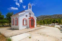 Liten traditionell kyrka på Kreta Fotografering för Bildbyråer