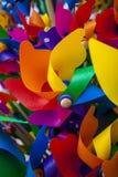 Liten väderkvarn för färgrik leksak Royaltyfri Foto