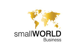 liten värld för affärslogo Fotografering för Bildbyråer