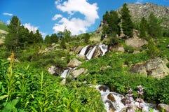 liten vattenfall 02 Arkivfoton