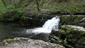 liten vattenfall stock video