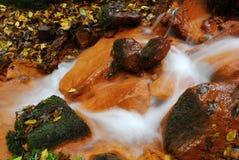Liten vattenfall i den Czechswitzerland nationalparken Arkivfoton