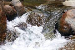 Liten vattenfall i floden på djungeln i Costa Rica under sommar Arkivbilder