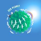 Liten vektorillustration för planet 3d Royaltyfria Bilder