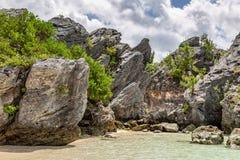 Liten vik för Jobson ` s, Bermuda Arkivfoto