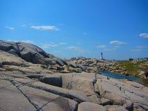 Liten vik för Peggy ` s, Nova Scotia Canada Arkivbilder