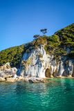 Liten vik i Abel Tasman National Park, Nya Zeeland Royaltyfri Foto