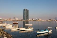 Liten vik i Ras al Khaimah, UAE Arkivbild