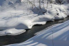 Liten vik i snön Royaltyfri Fotografi