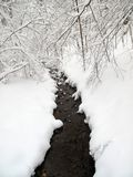 liten vik little vinter arkivfoton