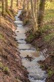 Liten liten vik och flödande vatten Royaltyfri Foto