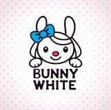 Liten vit kaninflicka Fotografering för Bildbyråer