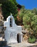 Liten vitkyrka i Grekland Arkivbild