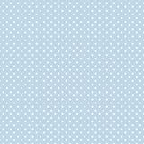 liten white för blå polka för prickar pastellfärgad Royaltyfria Bilder