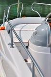 liten yacht för huvuddelkurvstång royaltyfria foton