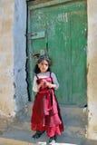 Liten yemeni flicka Arkivfoton