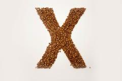 literę x abecadło gryka Fotografia Royalty Free