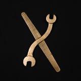 literę x Abecadło robić złoci remontowi narzędzia Obraz Stock