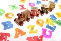 liter alfabetu pociąg zabawki. Obraz Royalty Free