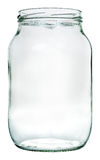 Liter glass jar. Isolation with clipping paths. Empty liter glass jar. Isolation with clipping paths Stock Photos