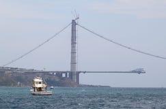 Litera del barco en el estrecho del bosphorus Foto de archivo libre de regalías