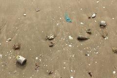 Litera del mar en el fondo de la arena imágenes de archivo libres de regalías