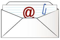 litera e - mail royalty ilustracja