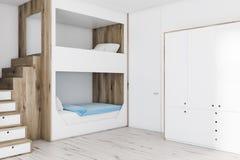 Litera y armario blancos stock de ilustración