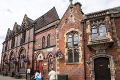 Literacki Instytucki budynek w targowym miasteczku Sandbach Anglia Zdjęcia Royalty Free