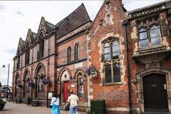Literacki Instytucki budynek w targowym miasteczku Sandbach Anglia Obraz Royalty Free