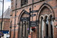 Literacki Instytucki budynek w targowym miasteczku Sandbach Anglia Zdjęcie Royalty Free