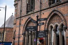 Literacki Instytucki budynek w targowym miasteczku Sandbach Anglia Fotografia Stock