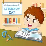 Literacy day concept background, cartoon style. Literacy day concept background. Cartoon illustration of literacy day vector concept background for web design vector illustration
