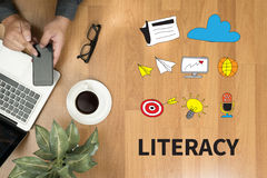 LITERACY Education School Financial Literacy to Education Stock Images