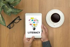 LITERACY Education School Financial Literacy to Education Royalty Free Stock Photography