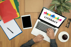 LITERACY Education School Financial Literacy to Education Royalty Free Stock Photo