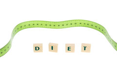 Literal word diet. With metering meter in background. Stock Image