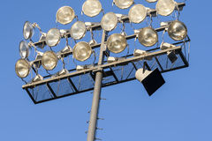 Literally under the lights Royalty Free Stock Image