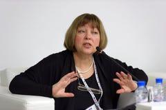 Literary critic Tatiana Boborykina Stock Image