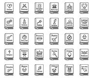 Free Literary Genres Book Icons Set, Outline Style Stock Image - 192414071