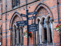 The Literary Institute in the Picturesque Town of Sandbach in South Cheshire England Stock Images