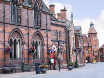 The Literary Institute in the Picturesque Town of Sandbach in South Cheshire England Royalty Free Stock Images