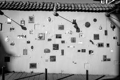 Literary street in Vilnius. Street art in Vilnius, literary street Stock Image