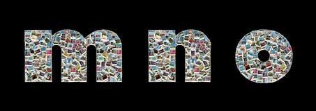 Literas de M, de N y de O - collage de las fotos del recorrido Fotografía de archivo