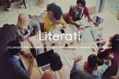 Literati Literature Highly Educated Literate Knowledge Concept Royalty Free Stock Images