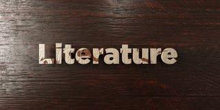 Literatura - grungy drewniany nagłówek na klonie - 3D odpłacający się królewskość bezpłatny akcyjny wizerunek royalty ilustracja